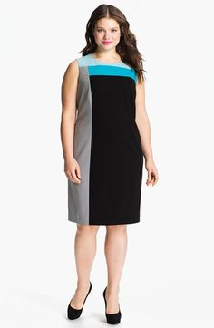 Calvin Klein Colorblock Sheath Dress (Plus) available at #Nordstrom