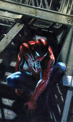 The New Amazing Spiderman (variant cover) by Gabriele Dell'Otto Marvel Comics Superheroes, Marvel Art, Marvel Heroes, Miles Morales, The Avengers, Marvel Comic Universe, Marvel Cinematic Universe, Comic Books Art, Comic Art