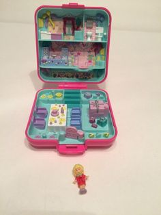 Polly Pocket Vintage 1989 Surprise Birthday Party Compact Bluebird | eBay