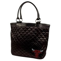 Chicago Bulls NBA Sport Noir Quilted Tote