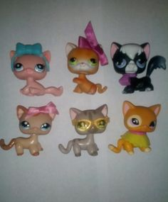 Littlest Pet Shop LPS Lot of 6 Cute Short Hair Siamese Cats Some Rare Little Pet Shop, Little Pets, Lps Houses, Lps Sets, Animals And Pets, Cute Animals, Lps Accessories, Lps Littlest Pet Shop, Cute Hairstyles For Short Hair