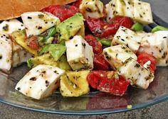 avocado-tomato-mozzarella salad. yumm
