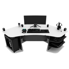 Welcome to the ultimate e-Shop for Gaming Desks. Get your Gaming Desk here, and become a member of the worldwide ProSpec Designs family, that already. Gaming Desk Designs, Corner Gaming Desk, Good Gaming Desk, Gaming Desk Setup, Home Office Setup, Home Office Space, Double Monitor Setup, Home Depot, Gnu Linux