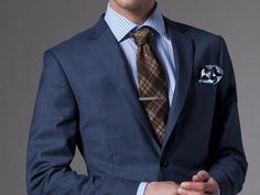 Indochino's new Blue Tweed Suit. Custom made for $399