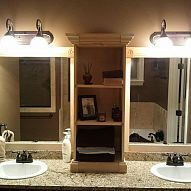 I Used This Idea And Revamped My Large Bathroom Mirror Weekend Here Are
