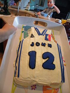 For his 12th birthday John asked for an Orlando Magic jersey cake.