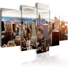 Quadri New York   QuadriperArredare.it Banksy, Art Rose, Tower Block, Cross Paintings, San Francisco Skyline, New York Skyline, Sunrise, Photo Wall, Images