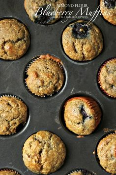 Almond Flour Blueberry Muffins, Egg-Free option, Dairy-Free, Gluten-Free