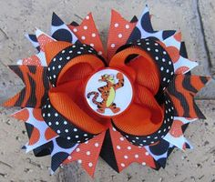 Tigger Winnie the Pooh Disney World Vacation Boutique Hair Bow Costume
