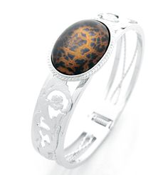 Bracelet Cloisonne 99.9% Handmade Womens Leopard Runway W226. Cloisonne Bracelet - Runway Collection W226. Jewelry : Cloisonne, 2.2x3.0cm, Handmade, Leopard, Each jewelry has different freewheeling pattern but general appearance is broadly similar. Length : 18cm. Metal : Platinum plated, 1.5cm, Easy one touch way.