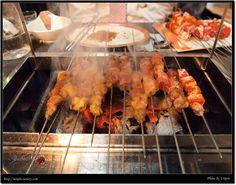양꼬치, Korea Shrimp, Meat, Food, Gourmet, Essen, Meals, Yemek, Eten