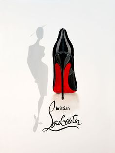 Christian Louboutin Limited Edition Poster Print x 841 mm)Signed and numbered by the artist Terry Available Worldwide Watch the artwork being created in the video below: The Boy Is Mine, Chanel Decor, Megan Hess, Image Mode, Fashion Wallpaper, Christian Louboutin Heels, Illustration, Shoe Art, Limited Edition Prints