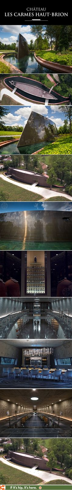 Designer Philippe Starck and architect Luc Arsène-Henry have transformed the Château Les Carmes Haut-Brion into a wild new winery. The modern facility combines tradition and technology with their newly designed vat room, ageing cellar and reception area.