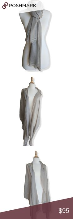 Handmade 100% Cashmere scarf shawl | Sand NWOT Beautiful 100% cashmere scarf or wrap, neutral sand | beige color.   Styles effortlessly: great for work or casual with denim or brunch.   Unisex - Men's | Women's Hand loomed in Nepal.   Brand new, never worn.  NWOT Single Ply.   Due to 100% natural materials & dyes there may be slight variations in color.  From a smoke-free cat-free home.   Browse my closet for more scarves (: Wonder Quest Lab Accessories Scarves & Wraps