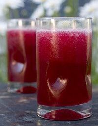 Raspberry Sangria Wine Slush...1 bottle Merlot or Syrah  1 cup pomegranate juice  1 pint raspberries    Directions:    Add wine, juice and berries to a blender. Blend until smooth and freeze. The alcohol will keep your slush from becoming a brick of wine-ice.