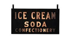 #IceCream Soda Confectionery 58x30x9 presented as lot S9. #Mecum #WalkerSignCollection #Neon #Porcelain