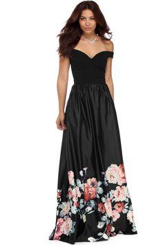 Selina Black Off The Shoulder Dress