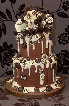 Wedding Chocolate Cake ♡