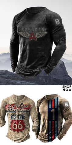 Up to 45% off! Men fashion long-sleeve T-shirt and accessories holiday sale for discount, free shipping on order $59. Shop now! #sale #men #outfits #accessories #shoes #shirt #tee #fall #winter #hoodie #tactical Motorcycle Jacket, Long Sleeve Shirts, Shop Now, Mens Fashion, Hoodies, Tees, T Shirt, Jackets, Outfits
