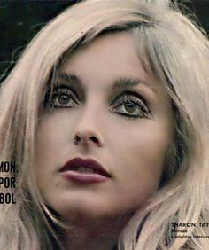Sharon Tate  Magazine from 1967.Photo by Gianni Praturlon,Los ojos de una diosa con eyeliner bien remarcado y pestañas infinitas.