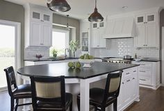 Kitchen Paint Colors Made Simple. Love the white cabinets and gray walls.