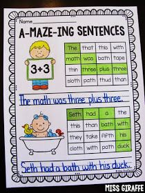 A-maze-ing sentences are such a fun way to practice digraphs! Check out all these fun digraphs worksheets and activities