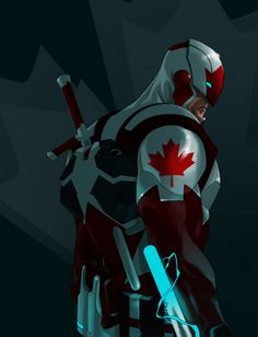 So, it's Captain Canada... in a suit of Iron Man armor... wielding electrified tonfa. Where can I read this comic!?