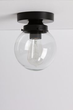 Clear Glass Globe Light