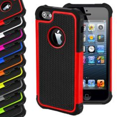 Free Shipping  Shock Proof Hybrid Silicone Case Cover For iPhone 5 5S $4.45