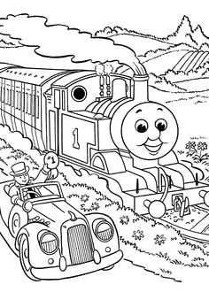 Thomas And Friends Coloring Pages Race For Kids Printable Free