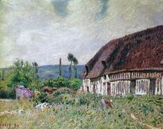 Farmhouse, 1894. Alfred Sisley