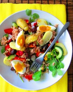 Tuna, Egg & New Potato Salad - 8 Weight Watcher Propoints