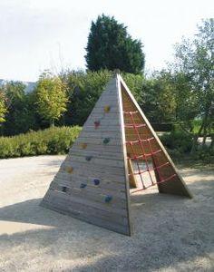 jeux en bois extérieur, balançoire, portique
