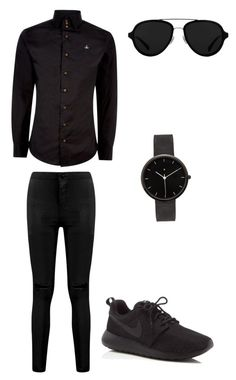 """""""all black mens outfit"""" by bbb4187 on Polyvore featuring Vivienne Westwood, NIKE, 3.1 Phillip Lim, I Love Ugly, men's fashion and menswear"""