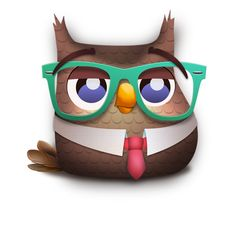 Owl Character - Dr. Job #owl #mascot #animal