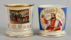 Porción # : 720 - Lot of 2: Shaving Mugs.