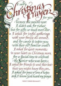 Christmas Prayer {this was put on a candy bar I received that was dressed as a snowman--very cute gift! Christmas Verses, Christmas Prayer, Christmas Program, Christmas Blessings, Christmas Messages, Christmas Love, A Christmas Story, Christmas Wishes, Christmas Greetings