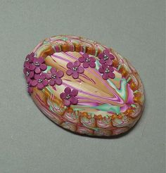 Polymer Clay Pendant TAD Day 28 by auntgriz, via Flickr