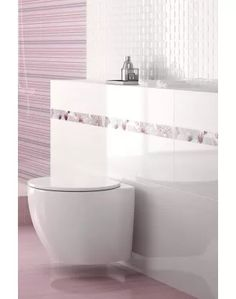 Create a sophisticated and elegant atmosphere with these finely lined gloss white wall tiles. Boutique tiles at cheap internet prices Lilac Bathroom, White Bathroom Tiles, Bathroom Floor Tiles, Bathroom Wall, Wall Tiles, Tile Floor, Border Tiles, Color Of The Year, Pantone Color