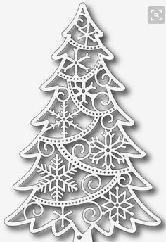 Tutti Designs - Ice Crystal Fir Die - We have a great selection of Tutti Designs Ice Crystal Fir Die in our ranges of great Paper Craft Products. Check out the great selection of Tutti Designs Ice Crystal Fir Die! Christmas Stencils, Christmas Wood, Christmas Images, Christmas Projects, Xmas, Diy And Crafts, Paper Crafts, Scroll Saw Patterns, Christmas Decorations