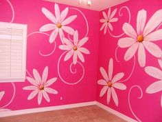 Girls Rooms Painting Ideas | This design was created for a little girl's room... but it could ...
