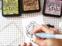 Colouring with Distress Inks - YouTube