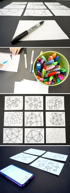 Drawing Ideas: Make one minute drawings to spark creativity Sketchbook Prompts, Sketchbook Assignments, Drawing For Kids, Art For Kids, Crafts For Kids, Daily Drawing, Kids Fun, Drawing Projects, Drawing Ideas