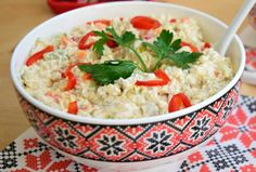 Risotto, Potato Salad, Mashed Potatoes, Grains, Ethnic Recipes, Desserts, Food, Pineapple, Salads
