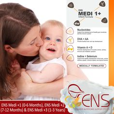 Our Formula is scientifically formulated to deliver the nutrients required to support the healthy life of growing children. ENS Medi +1 for Babies 0-6 Months, ENS +2 for Babies 7-12 Months and ENS +3 for Babies 1-3 Years.  Contact our customer service for more information on 1300 ENS ENS - 1300 367 367. #infantFormula #Milk #ENS #ENSMedi #Baby #babycare #babymilk #babyformula #milkformula