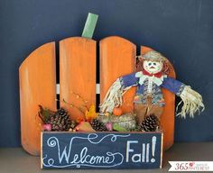 diy rustic pumpkin stand, chalkboard paint, crafts, fences, fireplaces mantels, home decor, painted furniture, seasonal holiday decor, woodworking projects