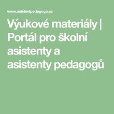 Výukové materiály | Portál pro školní asistenty a asistenty pedagogů