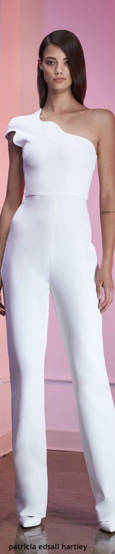 Cushnie et Ochs Resort-2016 white oneshoulder dress women fashion outfit clothing style apparel @roressclothes closet ideas