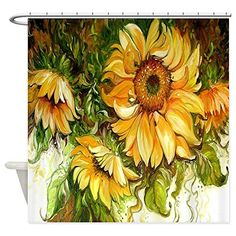 CafePress  Sunflower  Decorative Fabric Shower Curtain *** To view further for this item, visit the image link.