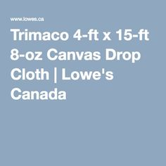 trimaco 4ft x 15ft 8oz canvas drop cloth loweu0027s